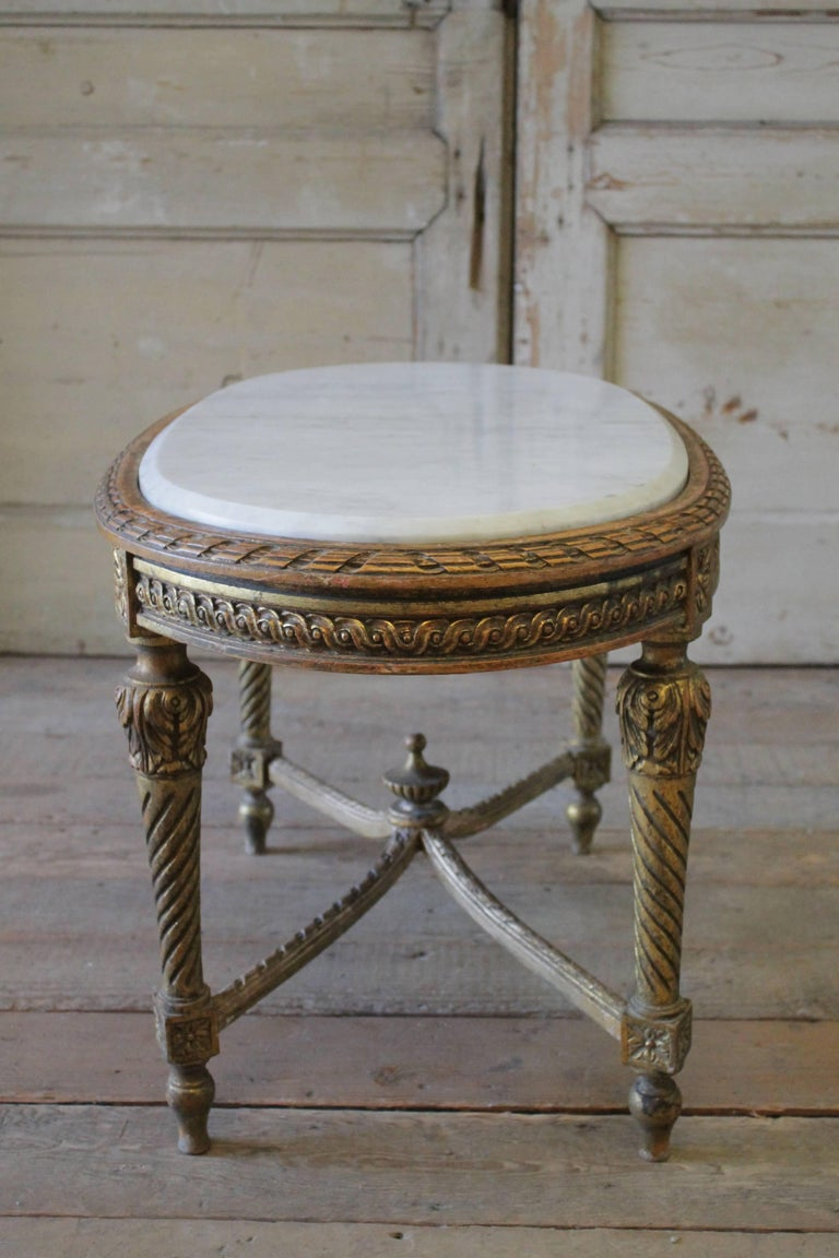 Antique Giltwood And Marble Coffee Table At 1stdibs