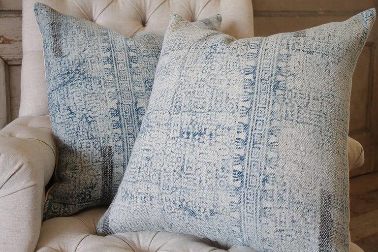 Batik Color Block Style Accent Pillows In Excellent Condition For Sale In Brea, CA