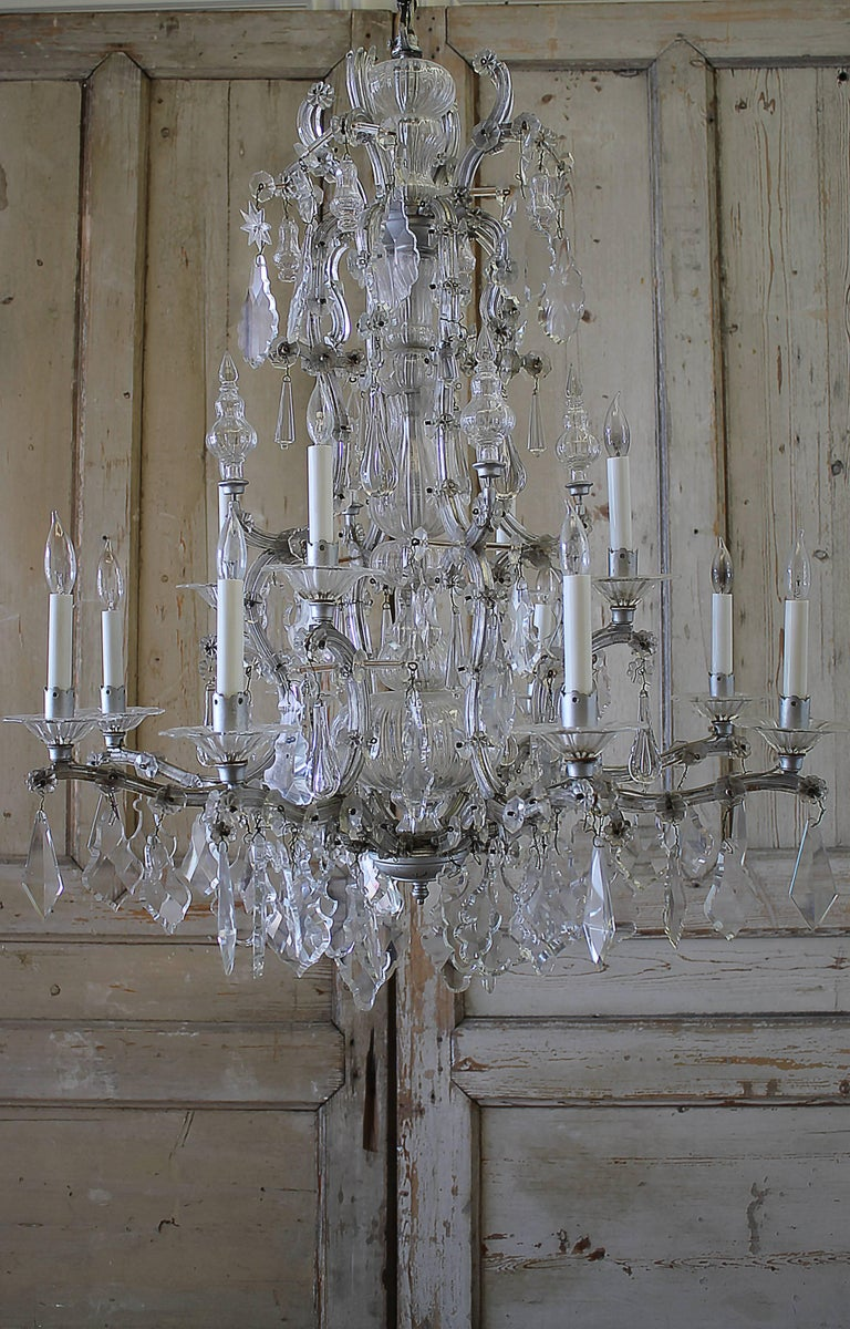Early 20th century maria theresa chandelier for sale at 1stdibs lovely maria theresa chandelier with unusual crystals in good working order different shapes and arubaitofo Gallery