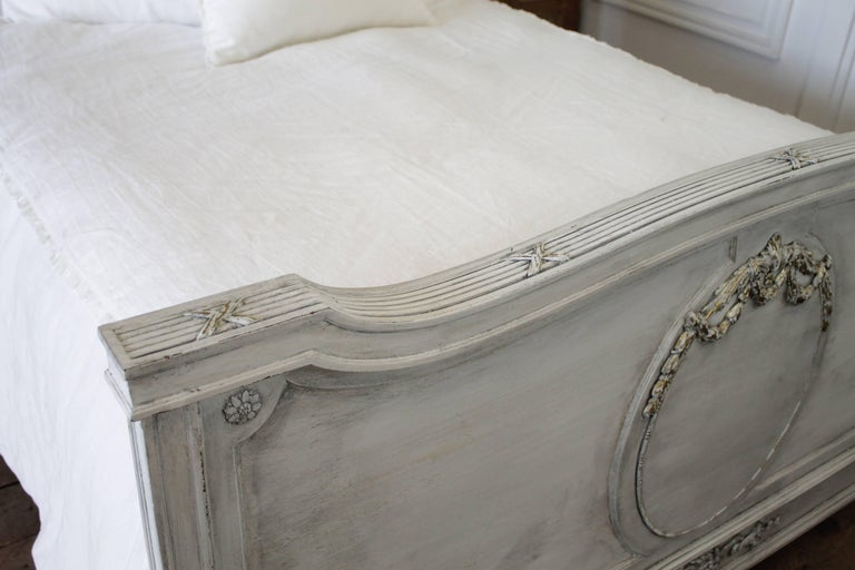 Early 20th Century Antique Louis XVI Style Full Size Bed For Sale 1
