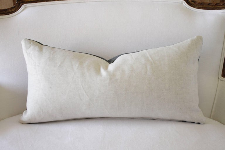American Velvet and Linen Accent Pillows For Sale