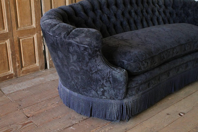 victorian style sofa. American Vintage Button Tufted Victorian Style Sofa For Sale