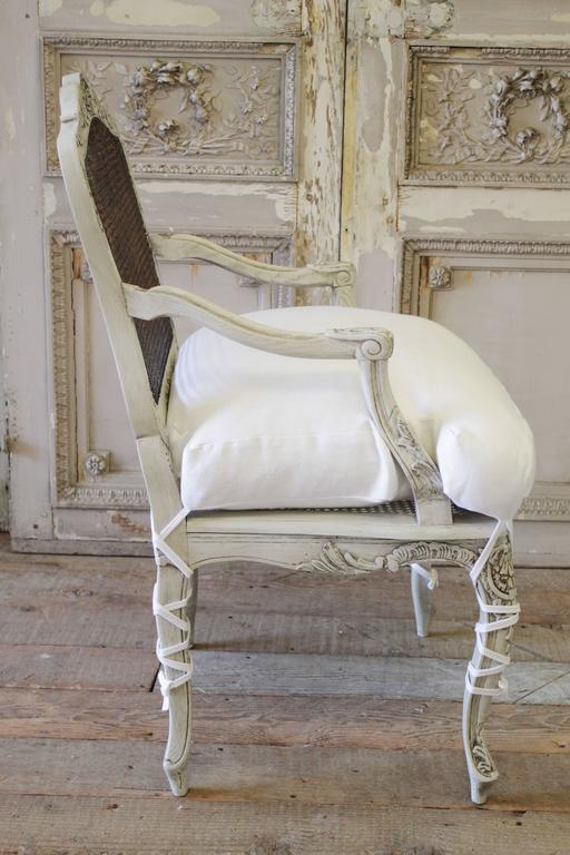 Painted 19th Century French Cane Back Chair At 1stdibs
