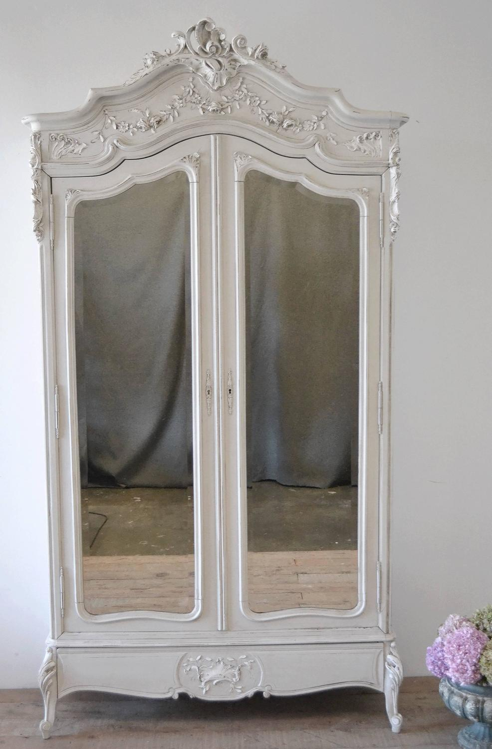 19th century louis xv style armoire at 1stdibs. Black Bedroom Furniture Sets. Home Design Ideas