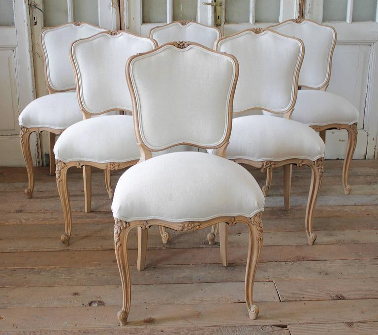 Louis XV Style French Country Dining Chairs 4