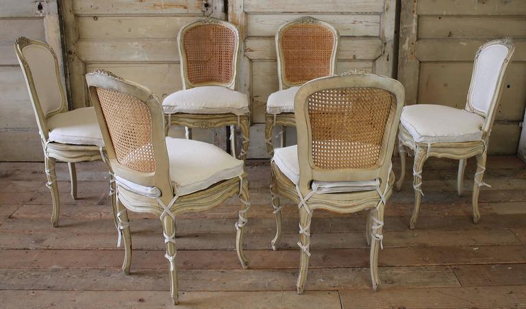 19th Century Louis Xv Antique French Cane Dining Chairs