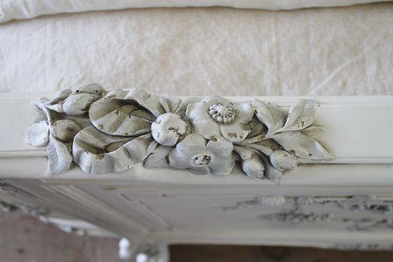 Th century queen painted antique french renaissance style bed