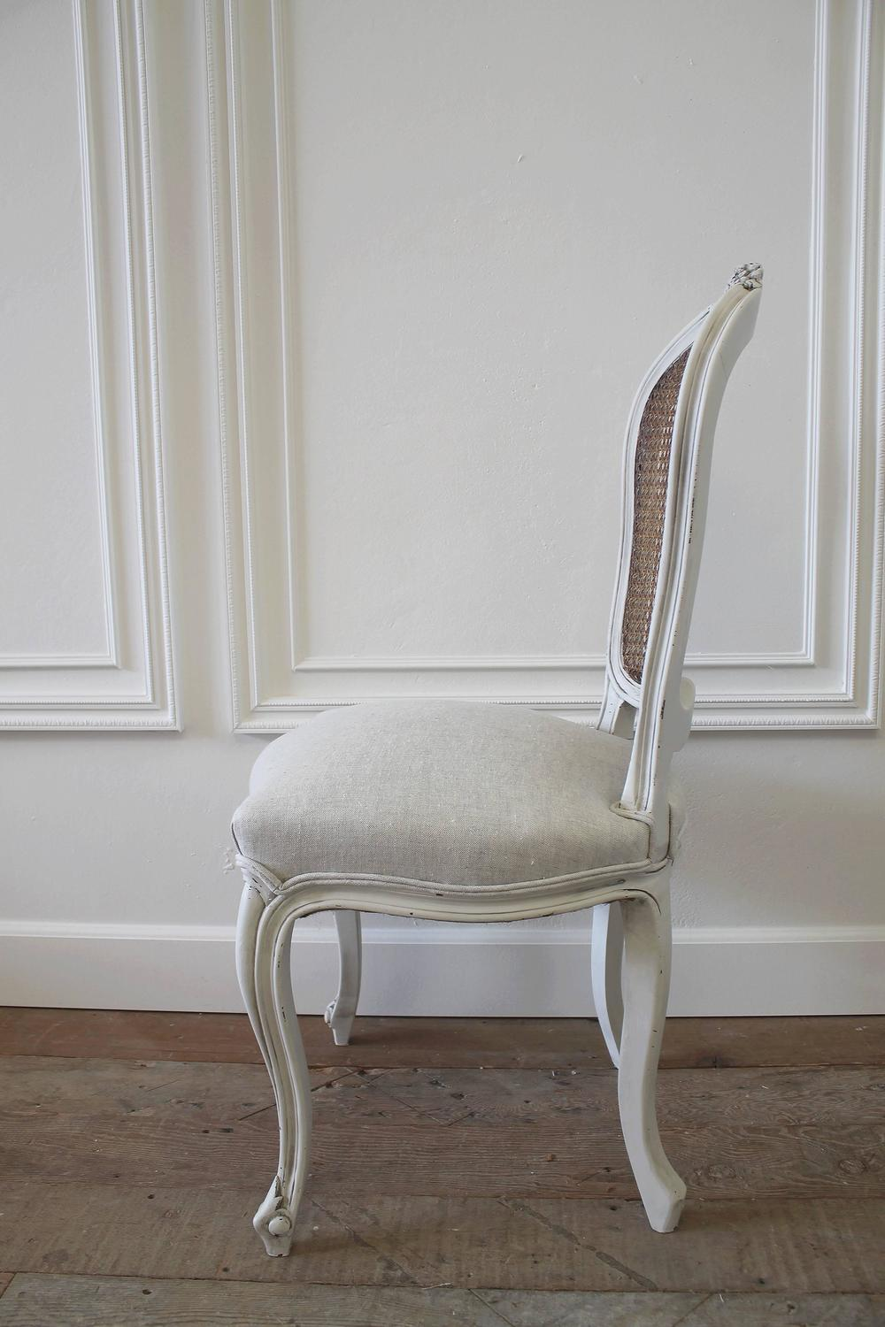 - Set Of Eight Vintage French Painted Cane Back Dining Chairs At 1stdibs