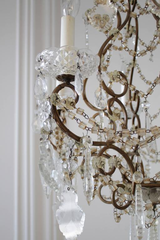 Bronze Chandeliers With Crystals