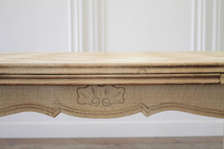 French Draw Leaf Dining Table That Was Carefully Stripped Of Its Original Finish And Made