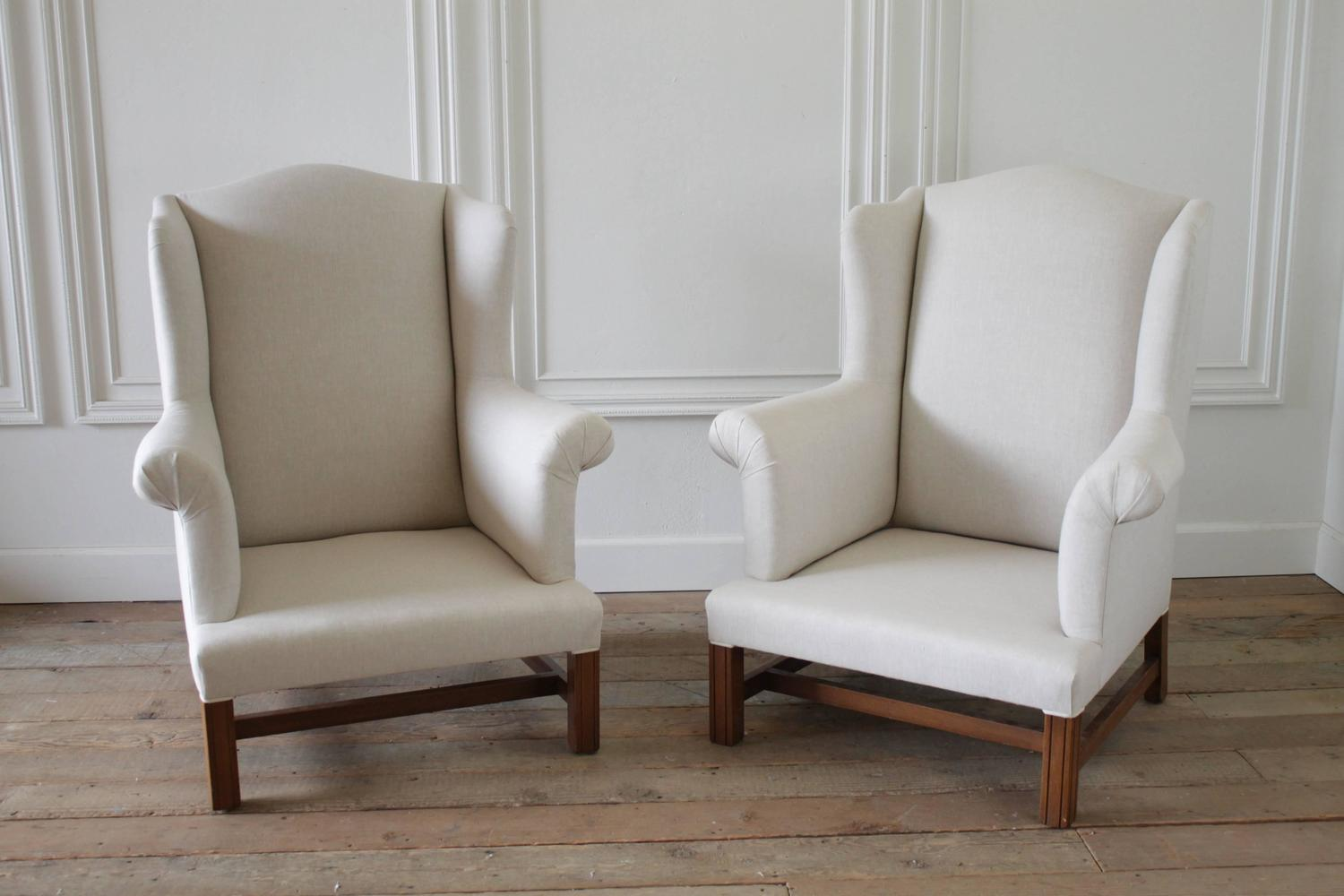 Sumptuous chair-and-a-half in a gorgeous oatmeal colored ...