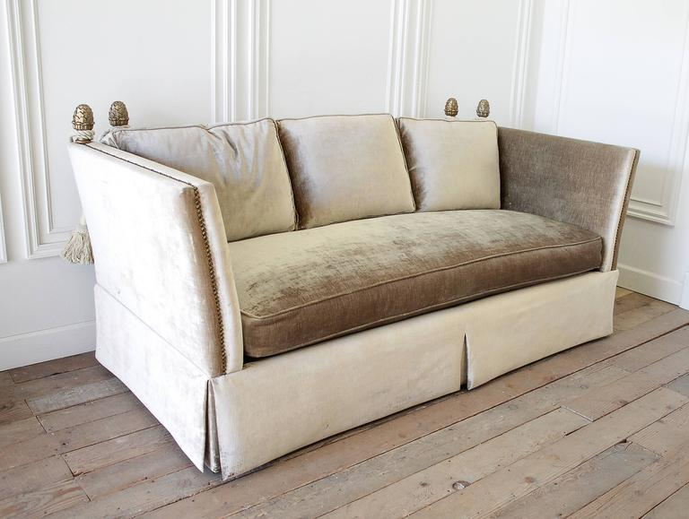 Fabulous Pair Of Knoll Style Sofas With Comfortable Down Feather Cushions.  Matching Pair Are Done