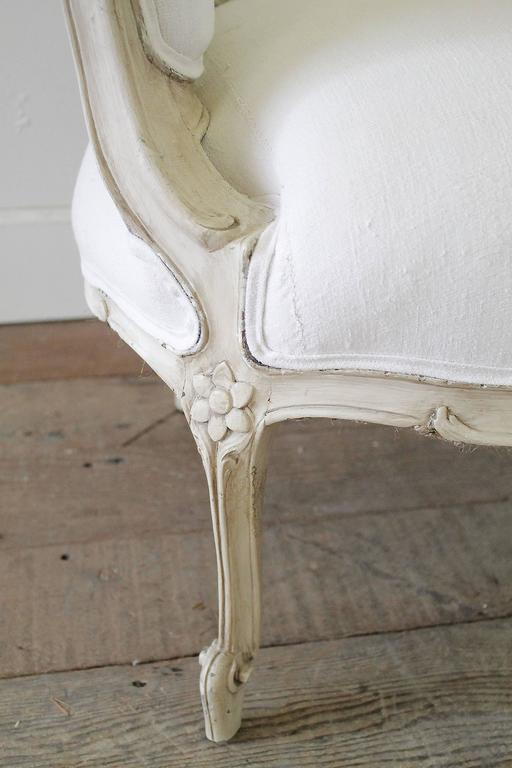 Th century marquis carved and painted louis xv style