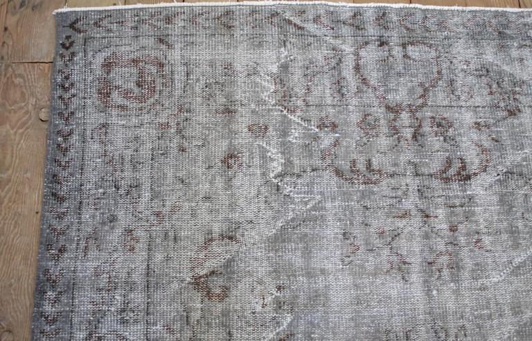 Hand-Knotted Vintage Turkish Hand Knotted Wool Rug For Sale