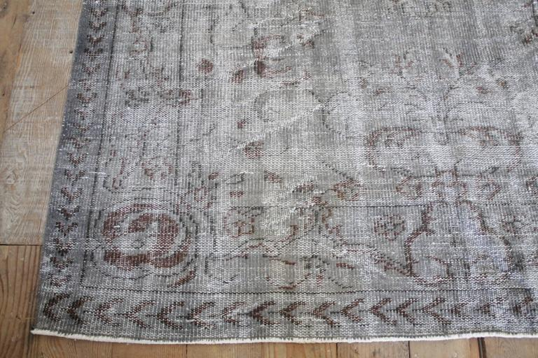 Mid-20th Century Vintage Turkish Hand Knotted Wool Rug For Sale