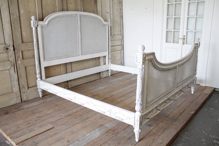 44d47481e17b Beautiful vintage king-size bed has been painted in our oyster white  finish. Double