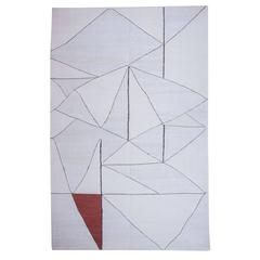 Anatolian White, Holy Triangle -I , a Contemporary Kilim by Seref Ozen