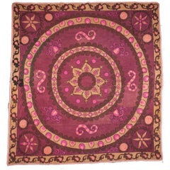 1900s 'Ai Palak', 'Moon Sky' Suzani, Densely Embroidered in Good Condition