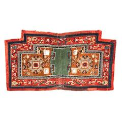 Early 20th Century Antique Sadlle Rug From Tibet