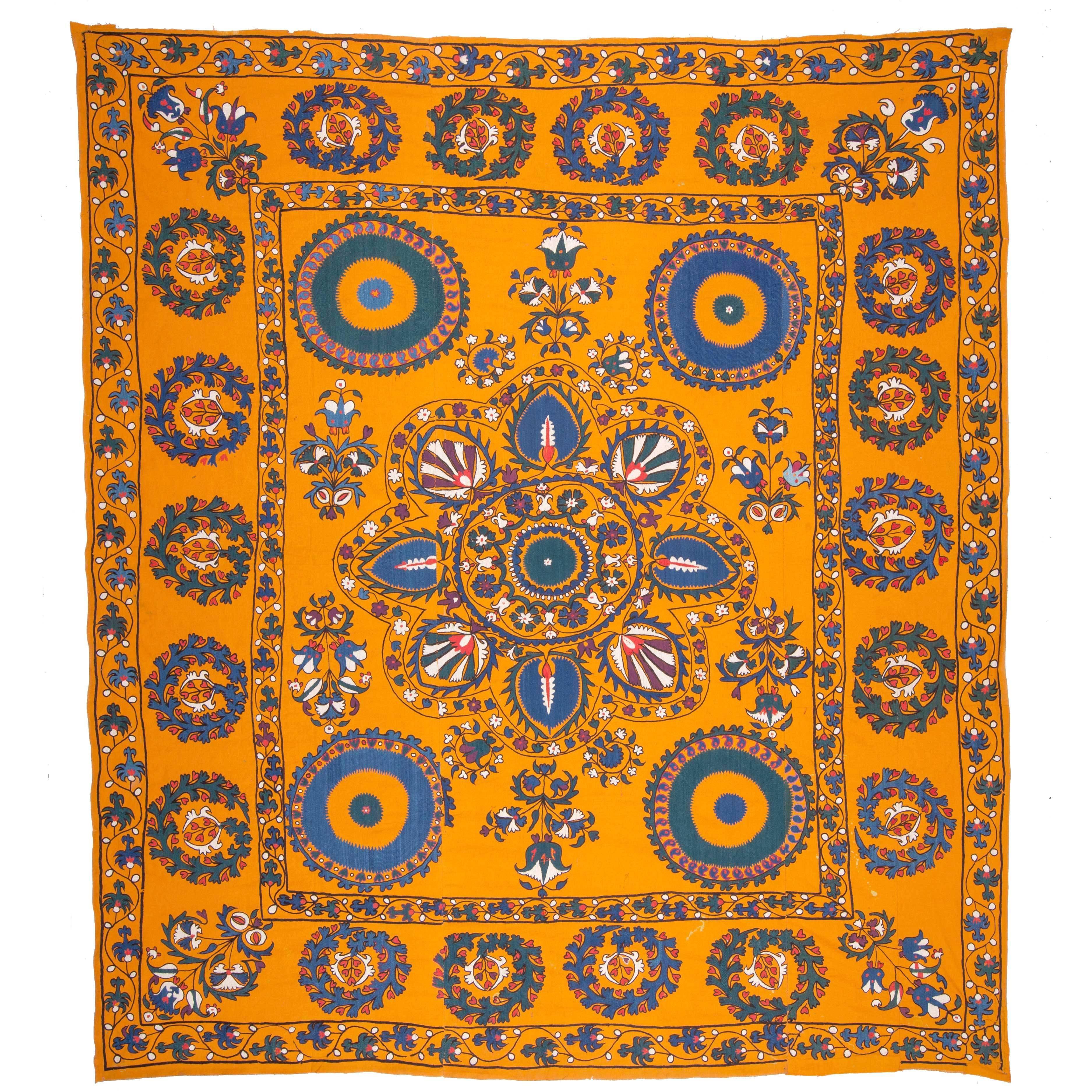 Late 19th Century Central Asian Suzani from Tashkent Uzbekistan