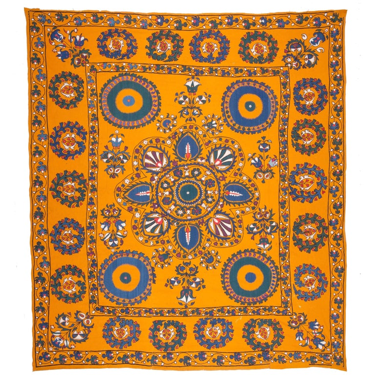 Late 19th Century Central Asian Suzani from Tashkent Uzbekistan For Sale