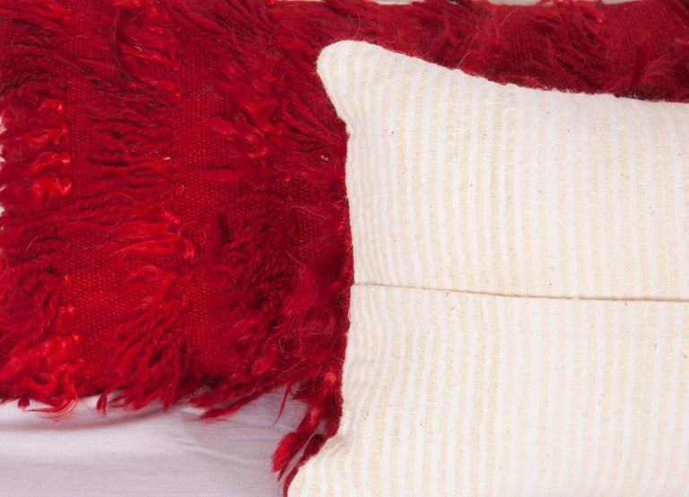 Tulu Pillow Cases Fashioned from Mid-20th Century Anatolian Angora Filikli Rugs For Sale