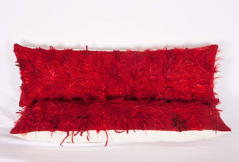 Hand-Woven Pillow Cases Fashioned from Mid-20th Century Anatolian Angora Filikli Rugs For Sale