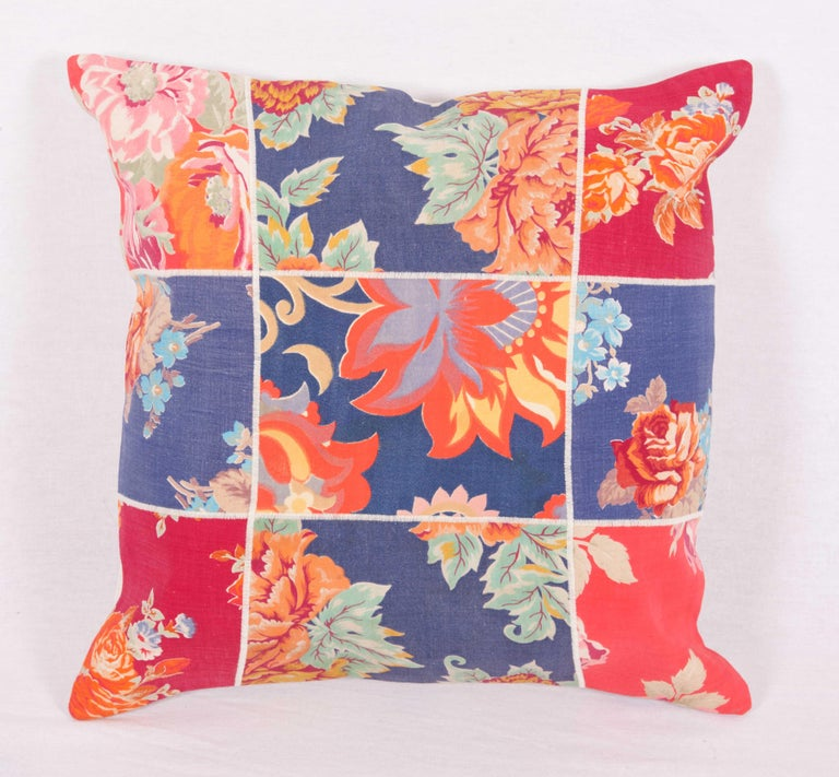 Patch Work Pillow Cases Fashioned from Old and Antique Russian Trade Cloth For Sale 3