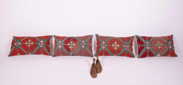The pillow / cushion covers are made from a vintage Syrian Bedouin embroidery. It does not come with an insert. The backing is made of linen. Please note filling is not provided. Since the item mentioned above is either antique, old, or vintage it