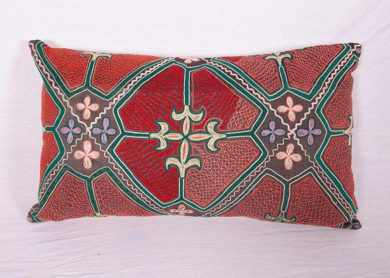 Kyrgyzstani Pillow / Cushion Covers Fashioned from a Midcentury Kyrgyz Tush Kiz Embroidery For Sale