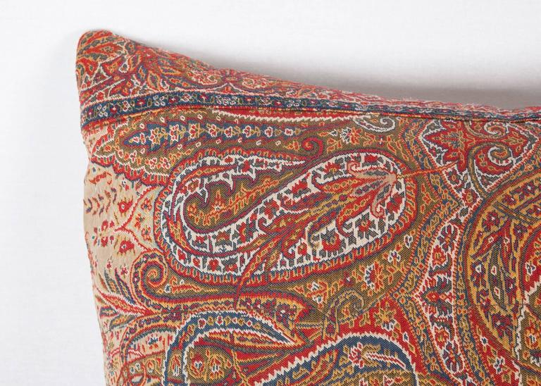 Islamic Early 19th Century Paisley Wool Pillow For Sale
