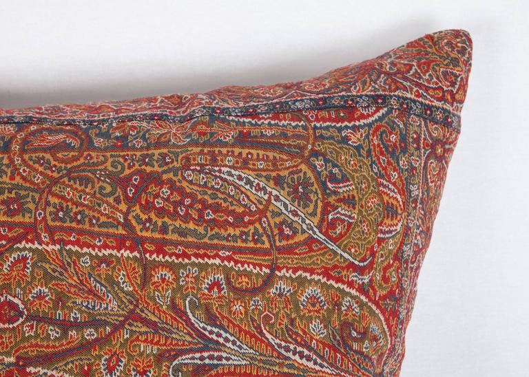 Woven Early 19th Century Paisley Wool Pillow For Sale
