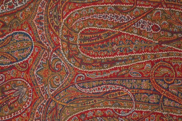 Early 19th Century Paisley Wool Pillow For Sale 2
