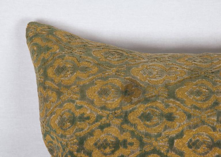 Islamic Early 20th Century Central Asian Cut Velvet pillow For Sale