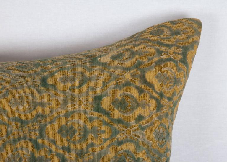 Uzbek Early 20th Century Central Asian Cut Velvet pillow For Sale