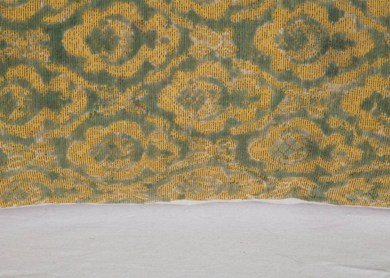 Woven Early 20th Century Central Asian Cut Velvet pillow For Sale