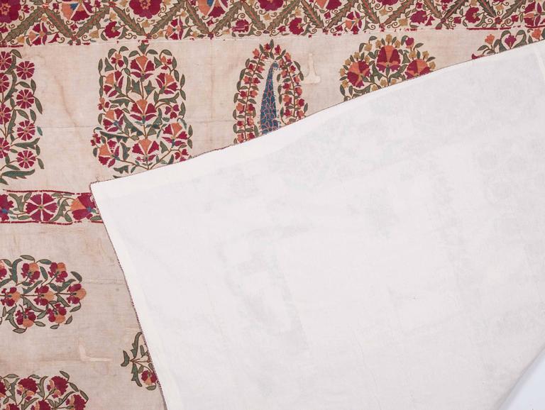 19th Century Antique Uzbek Nurata Suzani For Sale 5
