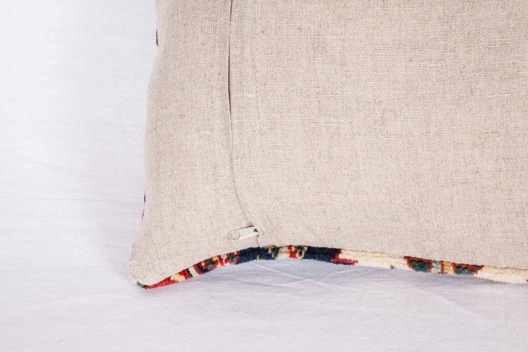 Wool Pillow Made Out of a 19th Century Caucasian Shrivan Rug Fragment For Sale