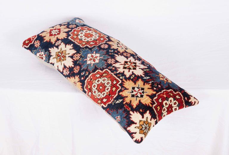 Pillow Made Out of a 19th Century Caucasian Shrivan Rug Fragment For Sale 1