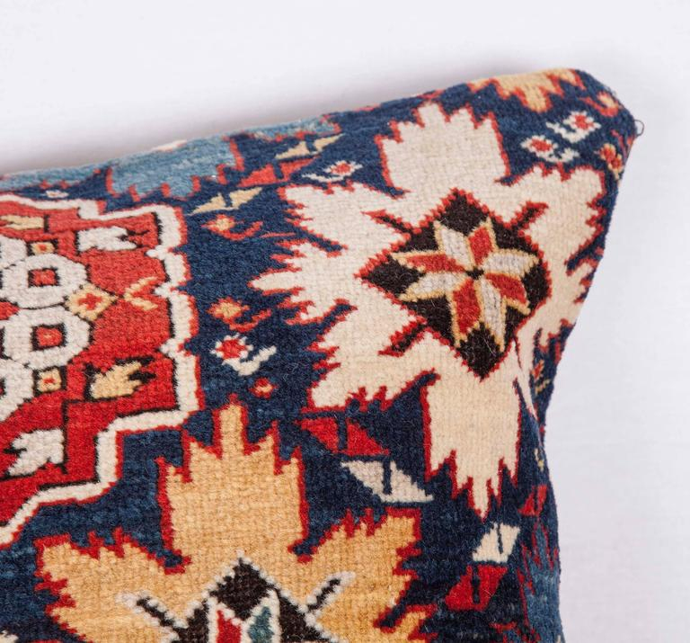 Azerbaijani Pillow Made Out of a 19th Century Caucasian Shrivan Rug Fragment For Sale