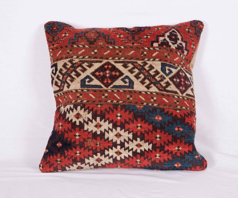 The pillows were made out of a late 19th century, Turkmen Chodor Tribe main rug fragment. It does not come with an insert but it comes with a bag made to the size and out of cotton to accommodate the filling. The backing is made of linen. Please