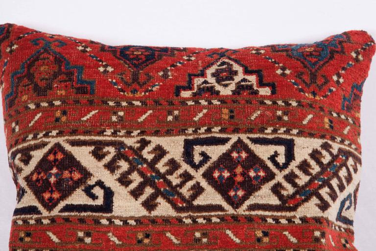 Pillows Made Out of a 19th Century Turkmen Chodor Tribe Main Rug Fragment For Sale 1