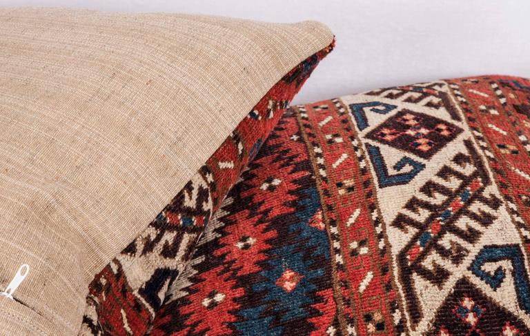 Pillows Made Out of a 19th Century Turkmen Chodor Tribe Main Rug Fragment For Sale 3