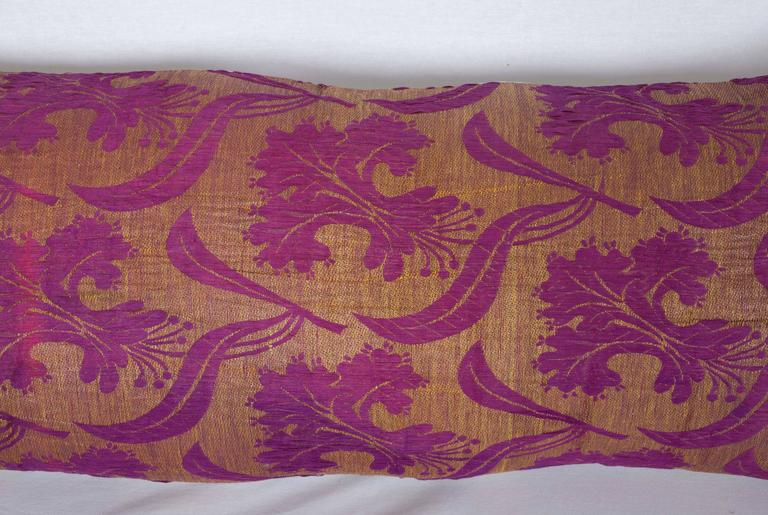 Islamic Pillow Made Out of a Late 19th Century Ottoman Turkish Textile For Sale