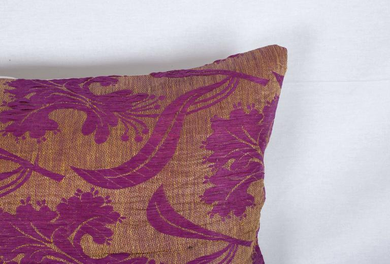 Hand-Woven Pillow Made Out of a Late 19th Century Ottoman Turkish Textile For Sale