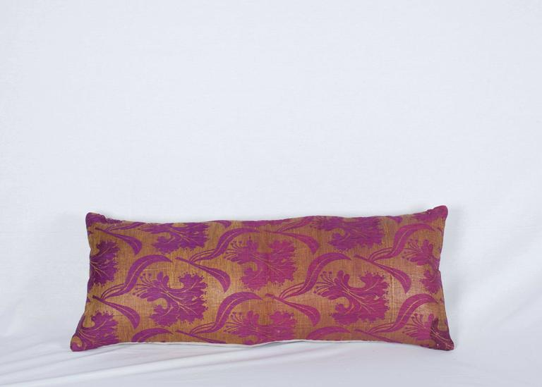 Islamic Pillow Made Out of a Late19th Century Ottoman Turkish Textile For Sale
