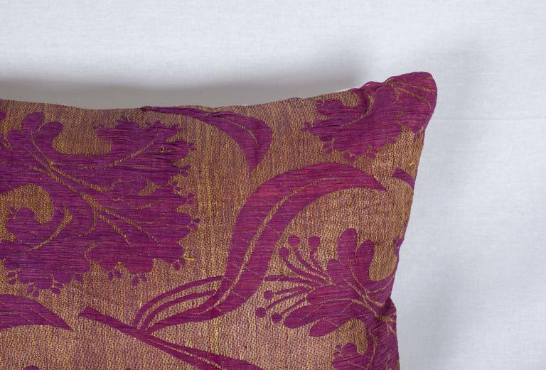 Hand-Woven Pillow Made Out of a Late19th Century Ottoman Turkish Textile For Sale