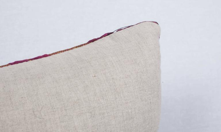 Silver Pillow Made Out of a Late19th Century Ottoman Turkish Textile For Sale