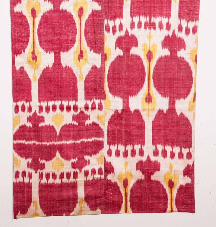 Tribal Late 19th Century Central Asian Uzbek Ikat Hanging For Sale