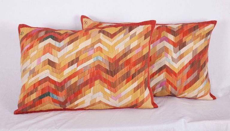 Hand-Woven Contemporary Silk Kilim Pillows For Sale